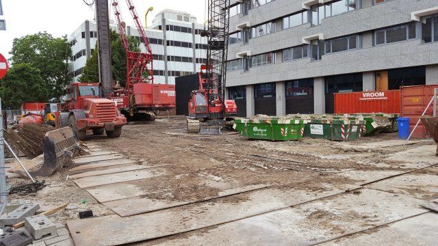 Willemstoren in aanbouw